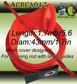 fishing accessories with advertisement-rod cover mesh sleeve