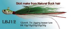 hook rigs-jig head  rigged with buck tail hair