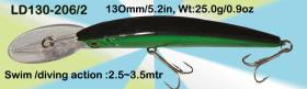 Osprey hard plastic crankbaits. 6in crankbait swims from top down to 3.5mtr