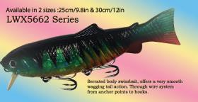 Osprey swimbait. Soft plastic with a Serrated body swimbait offers a perfectswim action