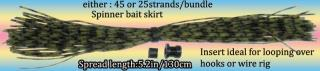 Silicone spinner bait skirt bundle with rigging collar